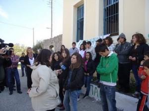Kατάληψη στο Γυμνάσιο Παλαιομάνινας για να αποτραπεί η κατάργηση