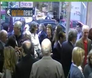 Aπό τα σημερινά εγκαίνια της έκθεσης του Χρήστου Γαρουφαλή ( Video)