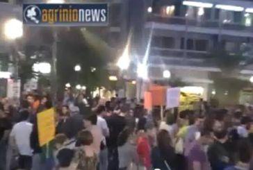 Βροντερό παρόν σήμερα στο Αγρίνιο από το κίνημα των αγανακτισμένων (video)