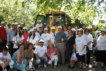 Συμβολικός καθαρισμός στη Νερομάνα από τους εργαζόμενους στον ΟΤΕ Αγρινίου