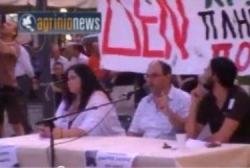 Βίντεο από την ομιλία του Δημήτρη Καζάκη στο Αγρίνιο