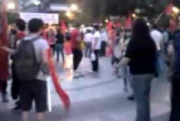 Από τη σημερινή συγκέντρωση του ΚΚΕ στην πλατεία Δημοκρατίας