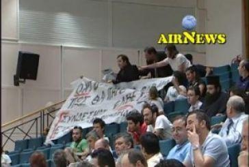 Ένταση στην ομιλία του Κακλαμάνη στο Μεσολόγγι (Video)