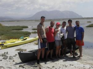Διάσωση Φλαμίνγκο στη λιμνοθάλασσα