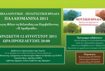 Περιβαλλοντική-Πολιτιστική βραδιά Παλαιομάνινα 2011