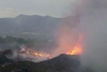 Πυρκαγιά χθες στη χωματερή του Αστακού