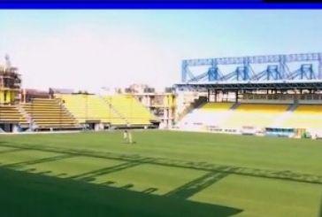 Τοποθέτηση καθισμάτων στο γήπεδο του Παναιτωλικού (vid)