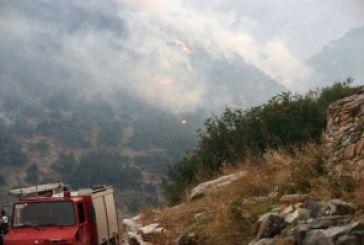 Τώρα: Πυρκαγιά στο Θέρμο, σε απόσταση αναπνοής από τα σπίτια…
