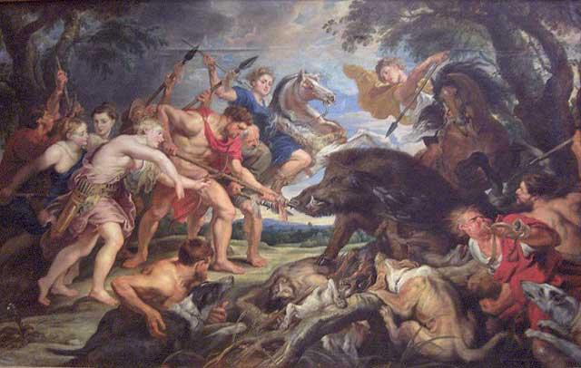 Βρέθηκε κλεμμένος πίνακας αξίας με θέμα «Το κυνήγι του Καλυδώνιου Kάπρου».