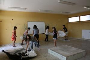 Οι μαθητές έβαψαν εθελοντικά το Γυμνάσιο Νεοχωρίου