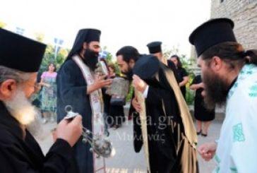Υποδοχή ιερού λειψάνου στην Ιερά Μονή Μυρτιάς