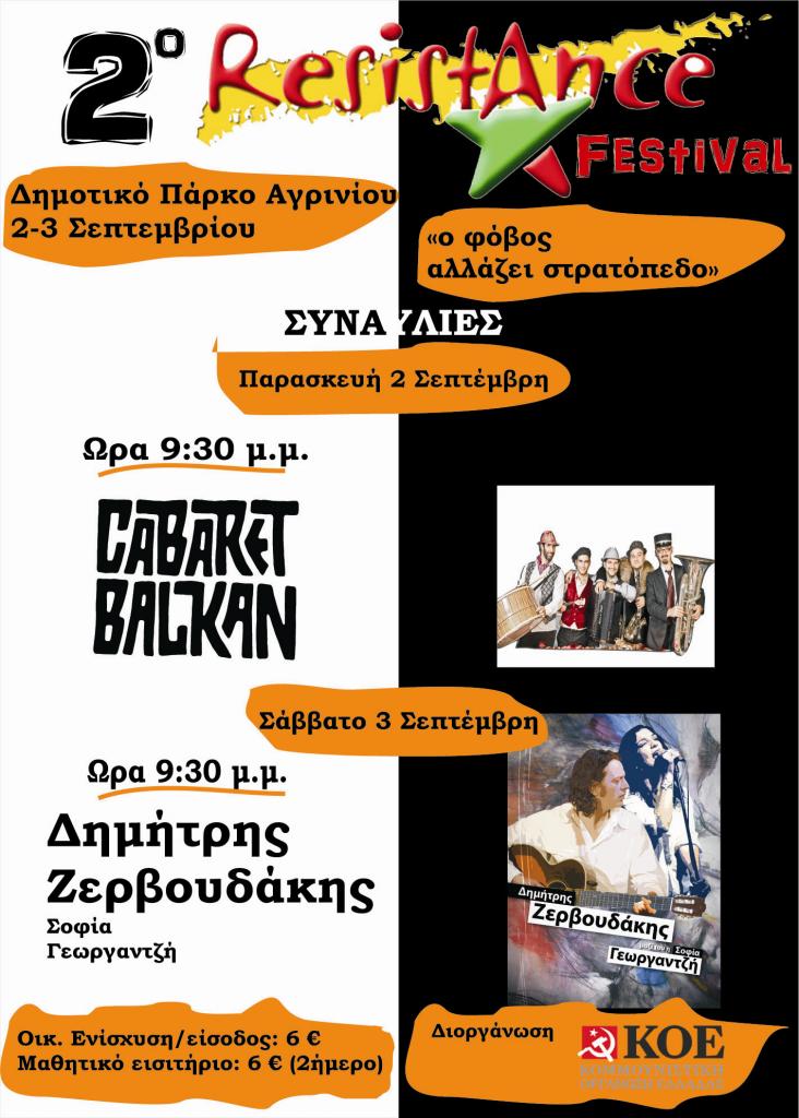 2o Resistance festival στο Δημοτικό Πάρκο Αγρινίου
