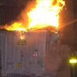 Έκαψαν κάδους στο Μεσολόγγι