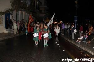 Φωτό από τη χθεσινή υποδοχή των Βενετών στη Ναύπακτο
