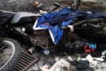Έκαψαν μοτοσικλέτα στην Οδό Γοργοποτάμου
