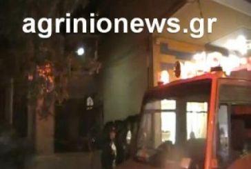 Τα πρώτα πλάνα από τη φωτιά στο κέντρο του Αγρινίου