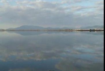 Λίμνη Λυσιμαχία με φόντο το Αγρίνιο (Vid)