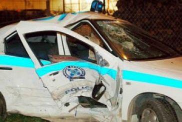 ΜΕΣΟΛΟΓΓΙ:Περιπολικό βγήκε απο το δρόμο.Τραυματίας αστυνομικός