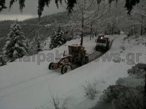 Μαζί με το χιονιά και τα προβλήματα στην ορεινή Ναυπακτία