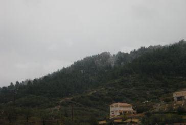 Χιόνι στα όρια του Αγρινίου, δυστυχώς