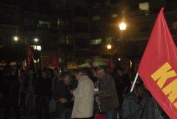 Η συγκέντρωση του ΚΚΕ στην κεντρική πλατεία