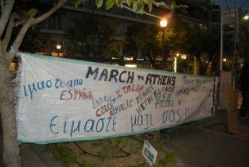 Υποδοχή στο «March to Athens» στο Αγρίνιο