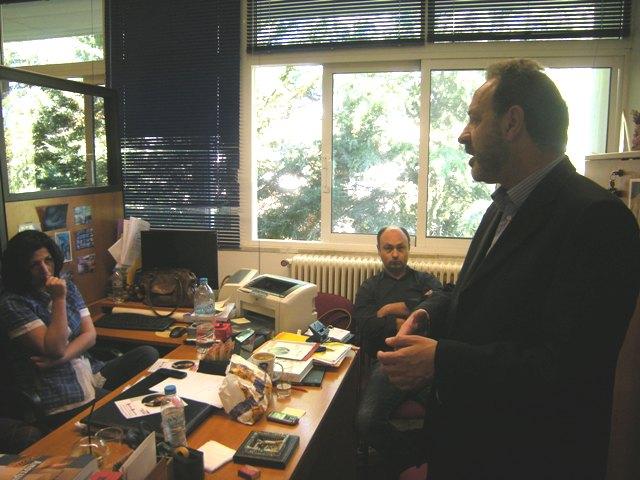 Ο Βασίλης Πατρώνης στο Πανεπιστήμιο Δυτικής Ελλάδας.
