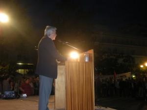 Προεκλογική ομιλία του ΚΚΕ στην πλατεία Δημοκρατίας