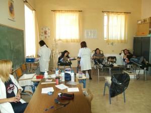 Εθελοντική αιμοδοσία στο Ε.ΠΑΛ Κατοχής