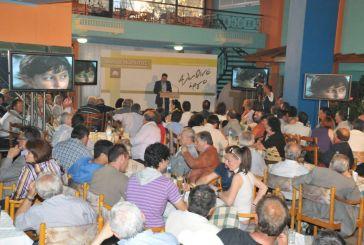 Μαζική συμμετοχή στην ομιλία Μωραϊτη στην Ναύπακτο