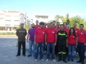 Εθελοντές διασώστες στην Παλαιομάνινα