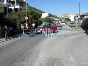 Τροχαίο ατύχημα στη Ναύπακτο. (Φωτό)