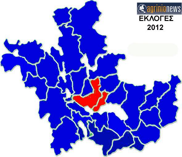Ο Εκλογικός Χάρτης της Αιτωλοακαρνανίας
