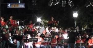 Η συναυλία της Φιλαρμονικής στην κεντρική πλατεία (Video)