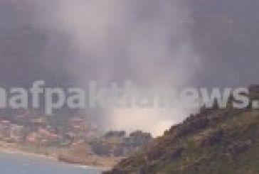 Πυρκαγιά στο λόφο της Αγίας Τριάδας στη Κάτω Βασιλική.(Φωτό – Βίντεο)