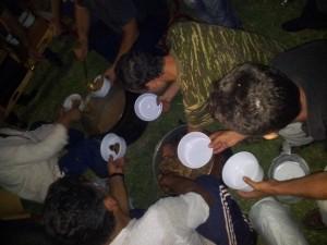Φωτό από παραδοσιακό καραγκούνικο τραπέζι στα Όχθια