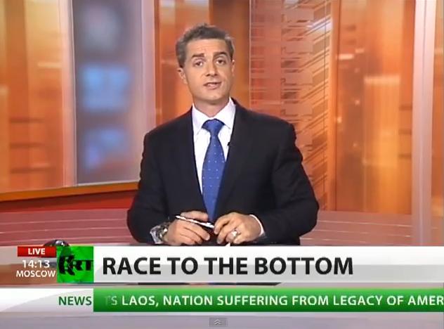 Η Ρωσική τηλεόραση για τα επεισόδια στο Αγρίνιο