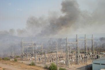 Eξαιτίας της φωτιάς χωρίς ρεύμα πολλές περιοχές του Αγρινίου
