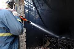 Φωτιά σε αποθήκη στο Αιτωλικό