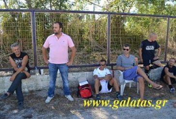 Ο Δέλλας θεατής στο ΑΟ Γαλατάς-Ένωση Ευηνοχωρίου