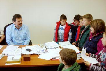 Μαθητές επισκέφτηκαν το Δήμαρχο Αμφιλοχίας