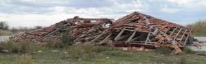 Η κατάληξη ενός κτίσματος στην περιοχή του Ντολμά