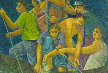 «Η καθημερινότητα στο Μεσολόγγι», από τον ζωγράφο Στάθη Βατανίδη.