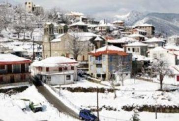 Εικόνες από την χιονισμένη Άνω Χώρα Ναυπακτίας (video)
