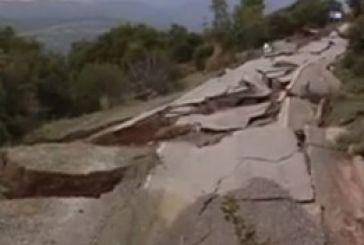 Μεγάλη η καταστροφή στο δρόμο Πιτσινέικα – Ριγάνι Ναυπακτίας