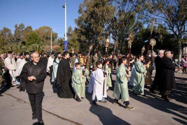 Λαμπρός ο ερτασμός των Θεοφανείων στο Μεσολόγγι (φωτό)