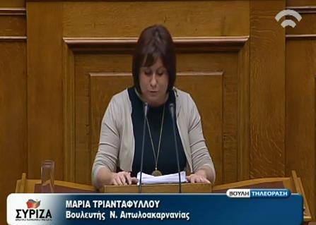 Η Μαρία Τριανταφύλλου για τη φορολογία στο πετρέλαιο θέρμανσης