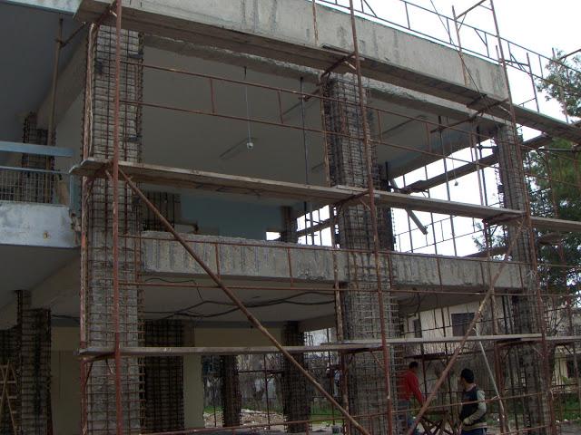 Συνεχίζονται οι εργασίες αποκατάστασης του Γυμνάσιου – Λυκείου Βόνιτσας