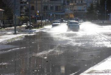 Οι ισχυροί άνεμοι έφεραν πλημμύρα στην Αμφιλοχία