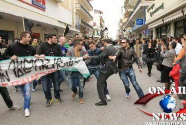 Επεισοδιακή παρέλαση στο Μεσολόγγι – Πορεία και εντάσεις (φωτό)